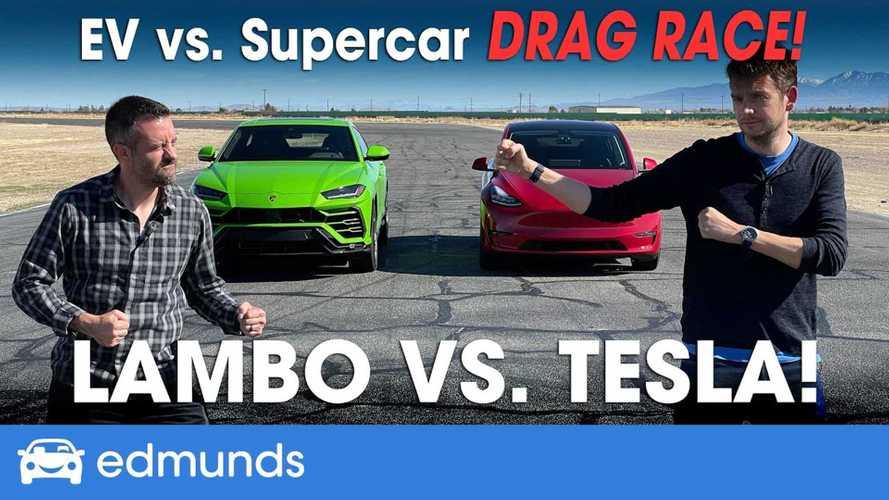 Watch Tesla Model Y Performance Race Lamborghini Urus