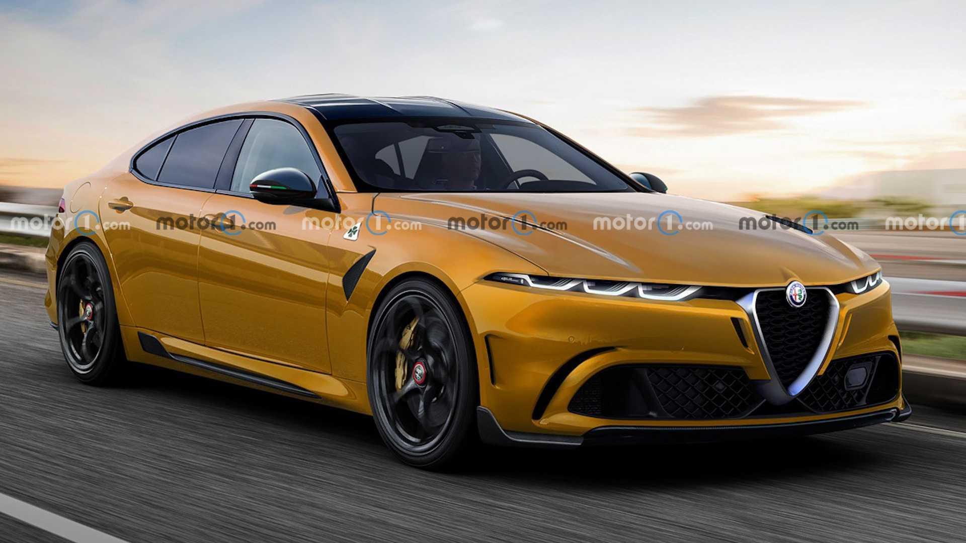 Große Alfa Romeo-Limousine: Inoffizielles Rendering zeigt BMW 5er-Rivalen