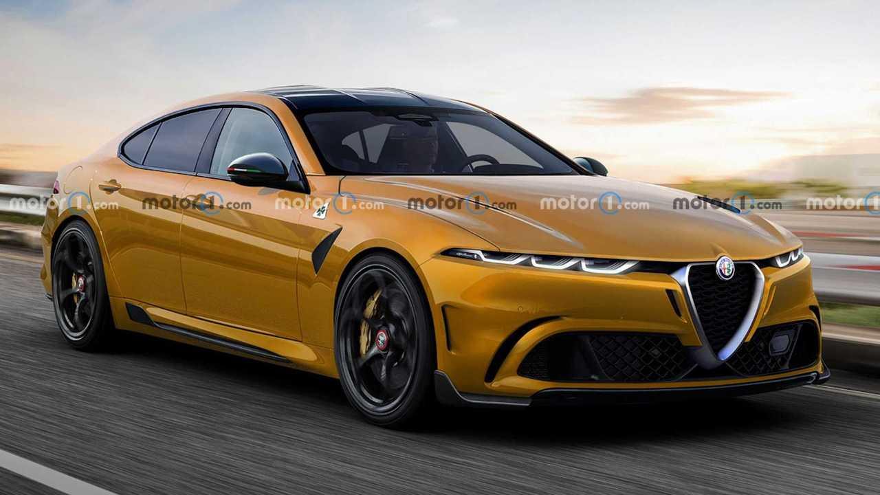 Alfa Romeo Saloon Rendering BMW 5 Series Rival