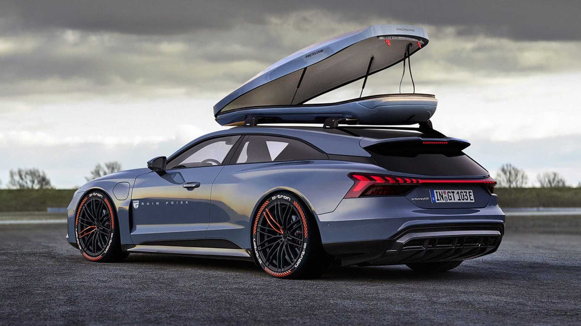 Audi E-Tron GT Shooting Brake Rendering Is Fiction Done Right