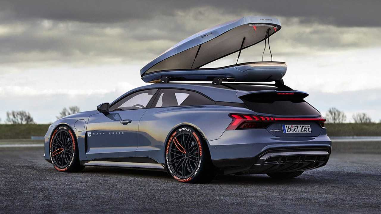 Audi E-Tron Shooting Brake rendering by Rain Prisk