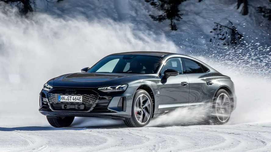 Audi RS e-tron GT, prova sulle neve delle Dolomiti