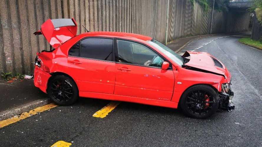 Accident Mitsubishi Lancer Evo IX