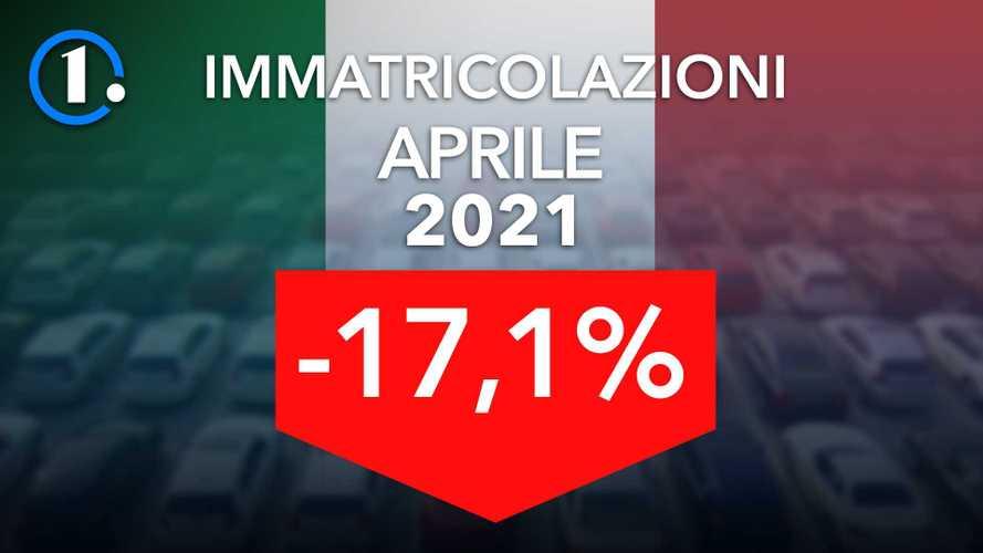Mercato auto Italia, ad aprile il boom delle ibride non basta