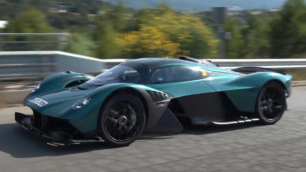 Aston Martin Valkyrie Spy Video
