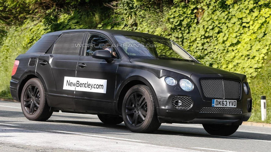 Bentley teases new camouflage for 2016 crossover, says it will 'soon be shed'