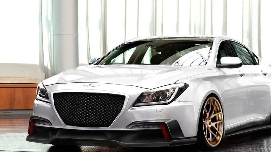 2015 Hyundai Genesis by ARK Performance previewed ahead of SEMA debut