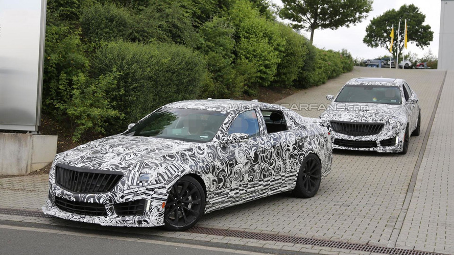 2016 Cadillac CTS-V spied at the Nurburgring