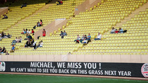 Message of support for Michael Schumacher at the charity football match 20.05.2014 Monaco Grand Prix