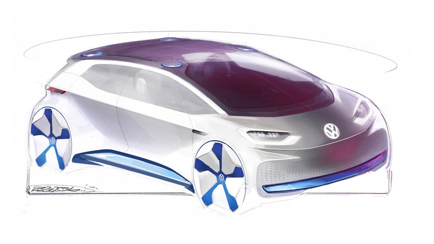 VW sketches out EV concept prior to Paris debut