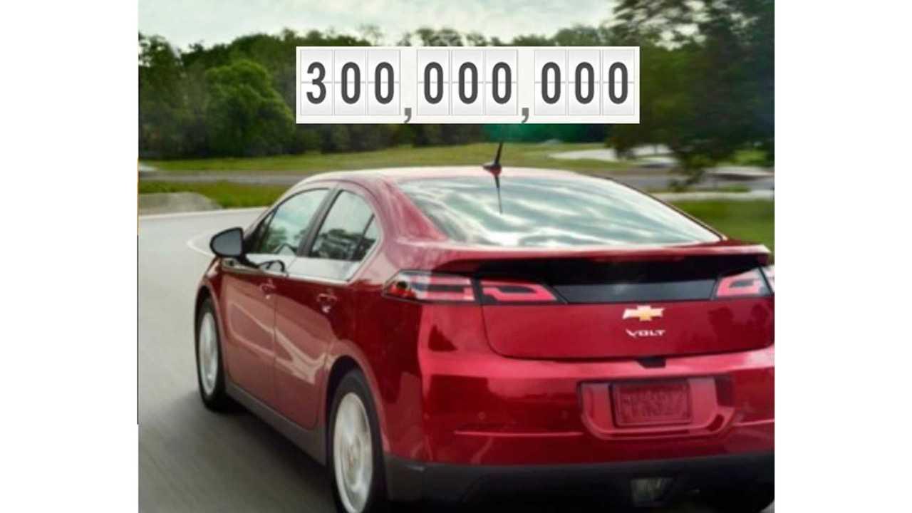 Chevrolet Volt Passes 300 Million Miles Driven Electrically