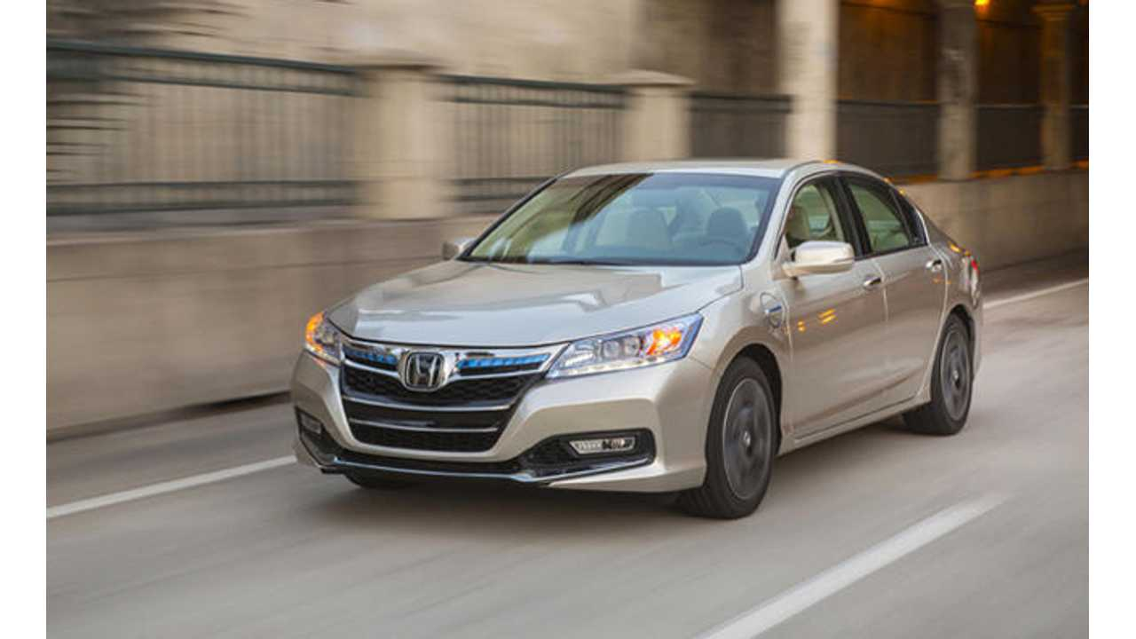 KBB: 2014 Honda Accord PHEV Grabs Best Resale Value Title for Plug-In Vehicles