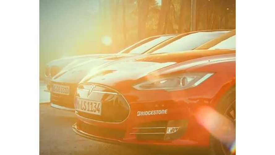 Video: AutoBild Pits Tesla Model S Against Porsche Panamera Plug-In Hybrid and BMW ActiveHybrid 7