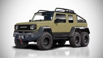 suzuki jimny 6x6 rendering video