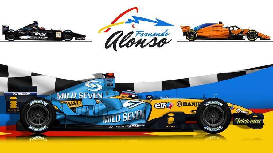 VIDÉO - De Minardi à McLaren, les F1 de Fernando Alonso