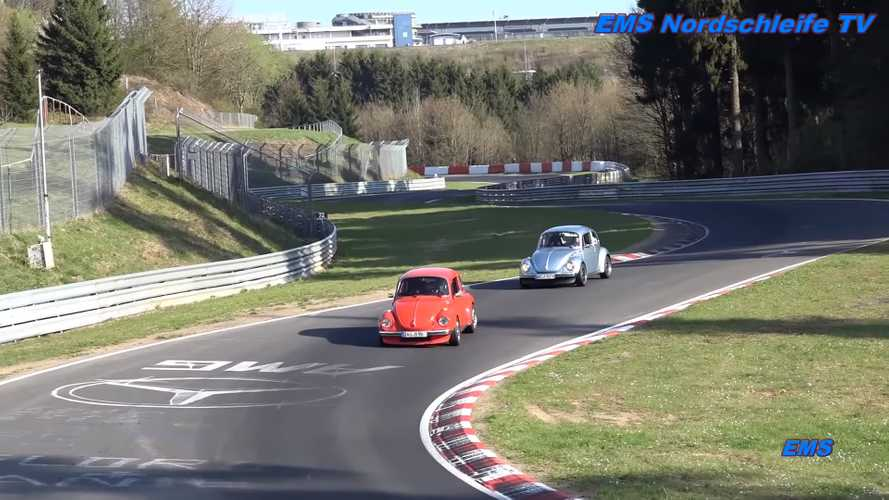 Volkswagen Beetles at the Nürburgring