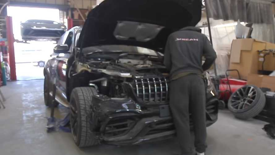 Damaged Mercedes-AMG GLC 63 S Lives To See Another Day