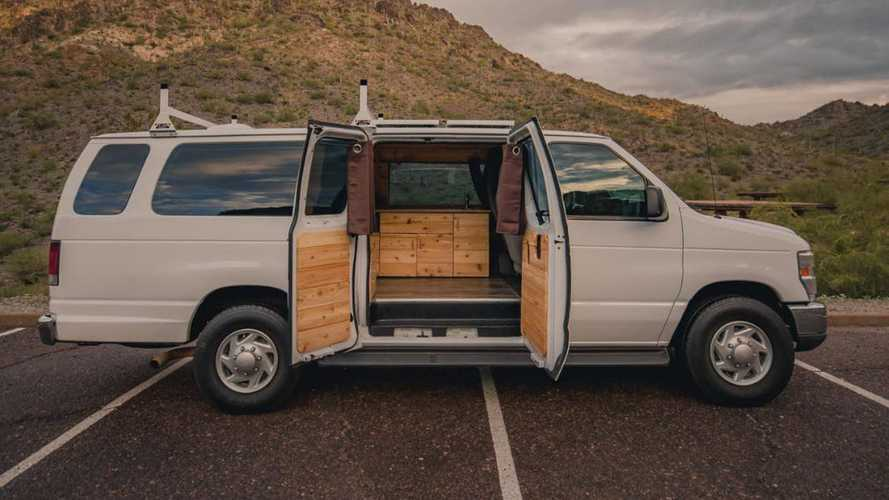 $35,000 Buys You A Commercial Van Turned Into Woody Camper