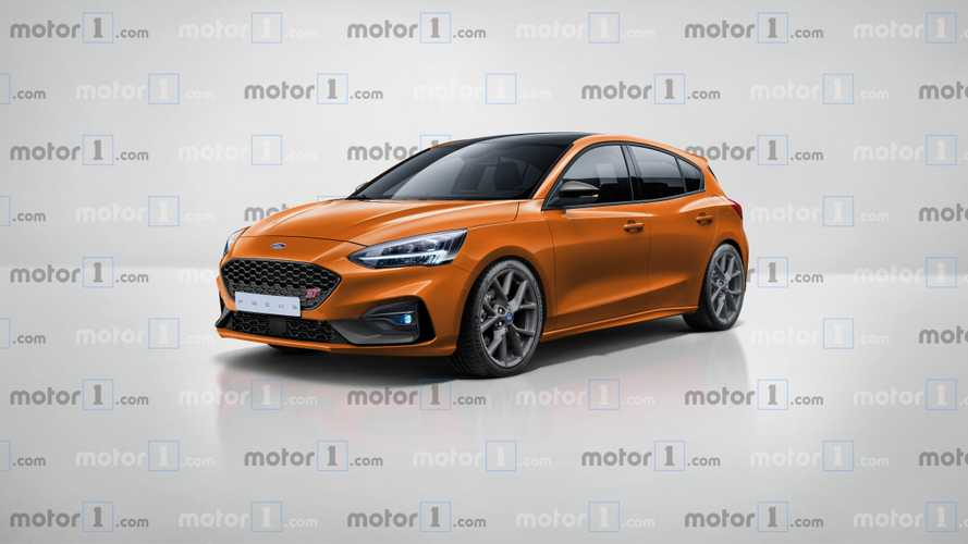 2019 Ford Focus ST rendered in production form