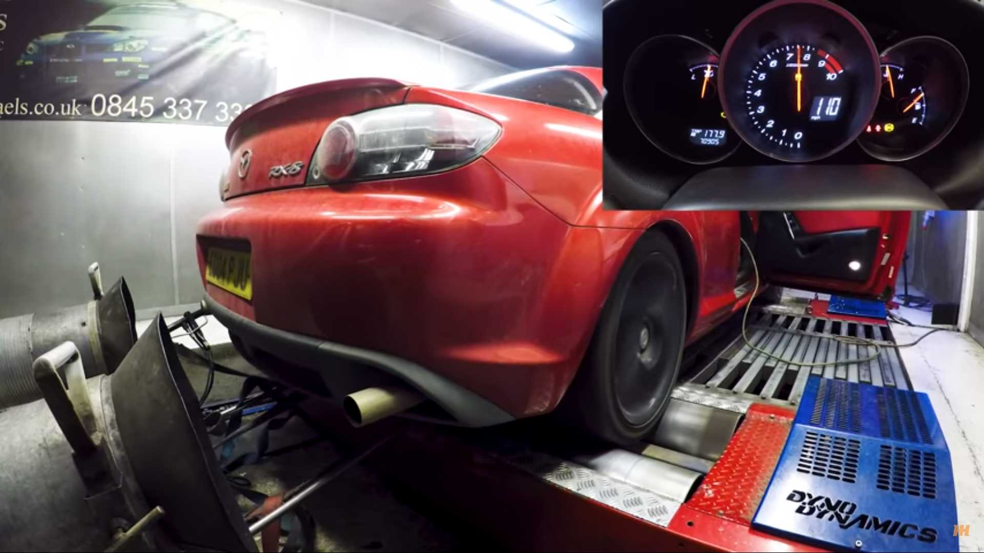 Mazda RX-8 Dyno Run Shows Power Loss On Sick Rotary Engine