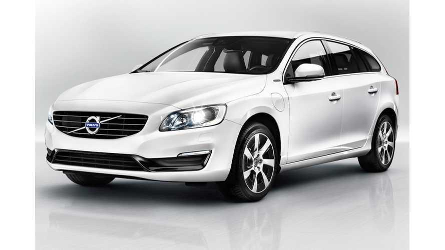 Freshened 2014 Volvo V60 Plug-In Hybrid Debuts in Geneva