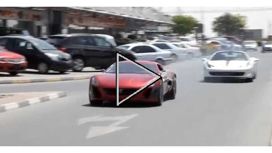 Video: Electric Rimac Concept_One Smokes Ferrari 458 Spider in Impromptu Drag Race