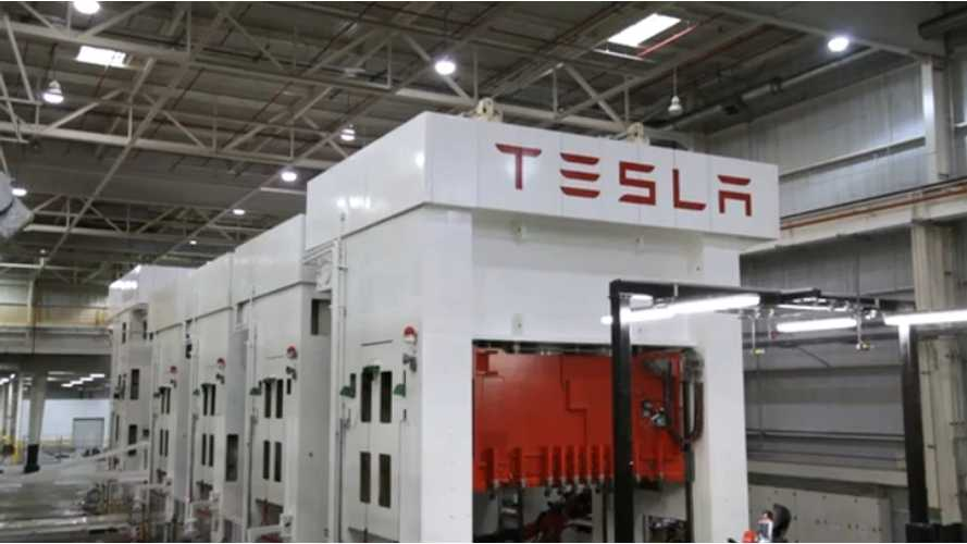 Inside Tesla:  Factory Video of Model S Stamping