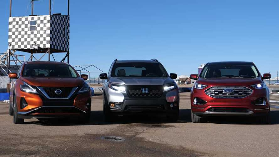 Honda Passport, Ford Edge, Nissan Murano Fight In Drag Races