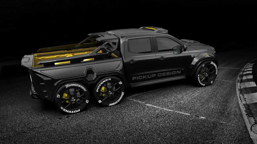 6-Wheel Mercedes X-Class Custom Is Pickup Of Your Nightmares