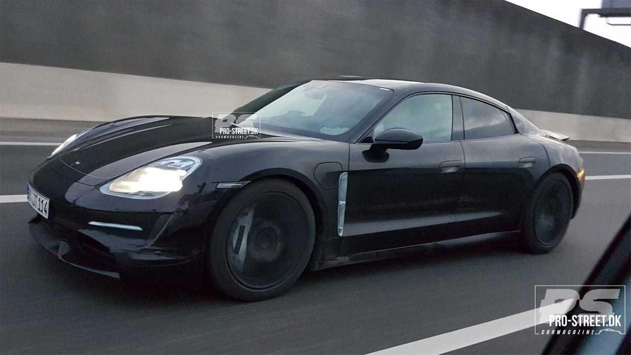 Porsche Taycan Highway Spy Shots