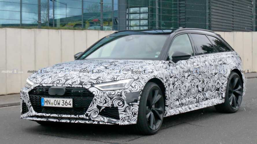 Audi RS6 Avant spied showing a huge pair of pipes