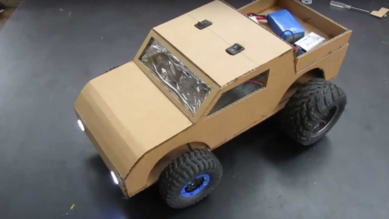 12 Minute Video Teaches You How To Make A Cardboard Car