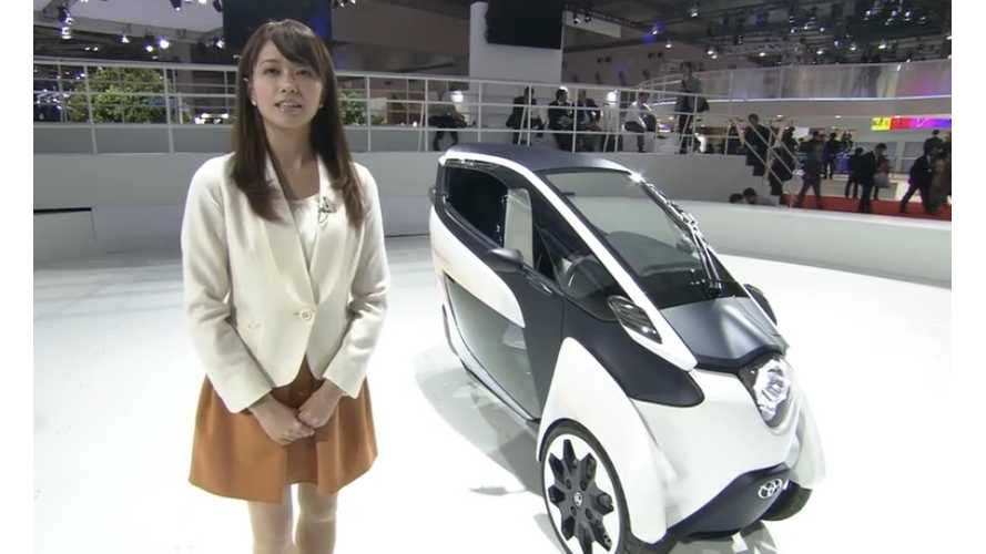 Video: Toyota Gives i-Road Report From The Tokyo Motor Show - Takes For A Spin