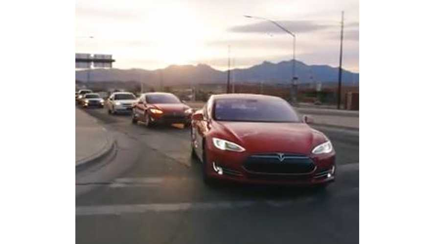 Behind the Scenes of Tesla's Model S Cross Country Rally - Video