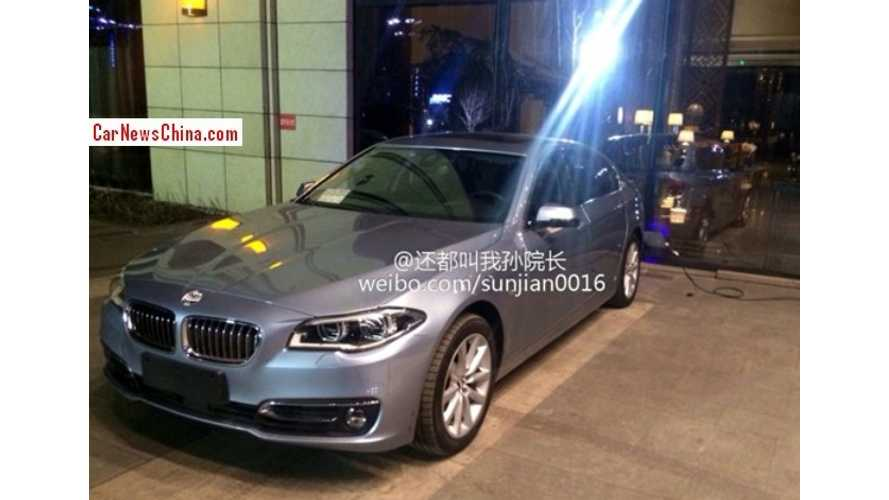 BMW 530Le Plug-In Hybrid Spied In China