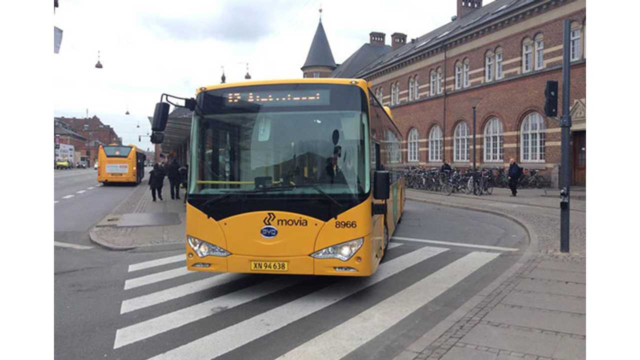 BYD Electric Bus Goes 202 Miles On a Single Charge in Denmark
