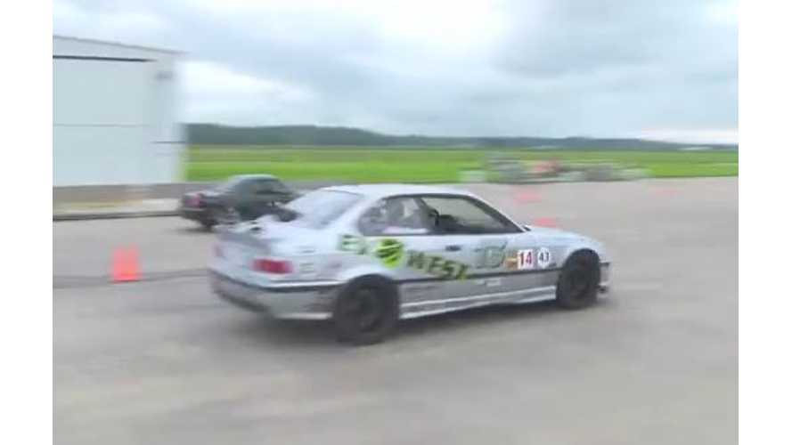 Video: EV West Electric BMW M3 Smokes the Competition at EVCCON 2013