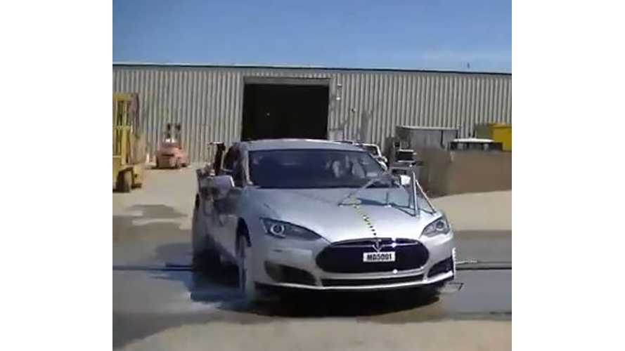 Exclusive Video: Watch Nearly 9 Minutes of NHTSA Crash Test Footage of Tesla Model S