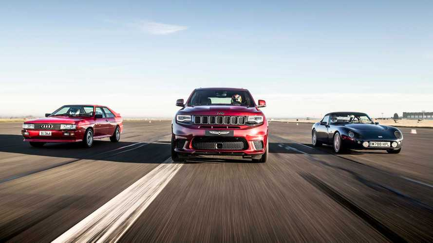 Jeep Trackhawk Dusts Audi Quattro, TVR In Lopsided Drag Race
