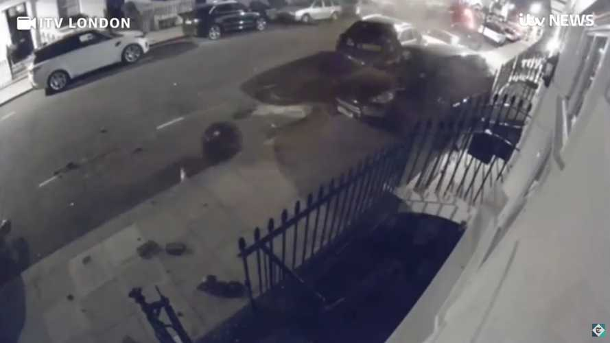 Watch high-end cars get destroyed in crazy Chelsea crash