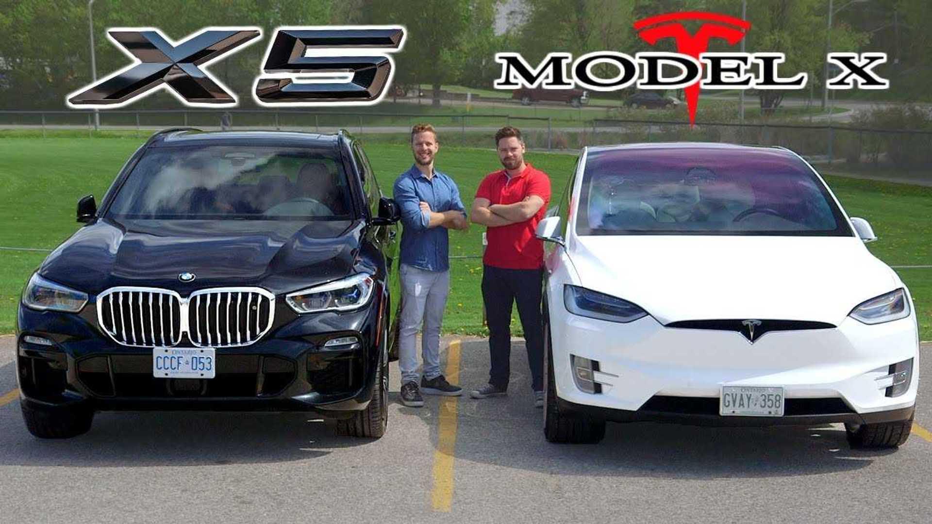 Battle Of X S Tesla Model X Vs Bmw X5 50i Compared