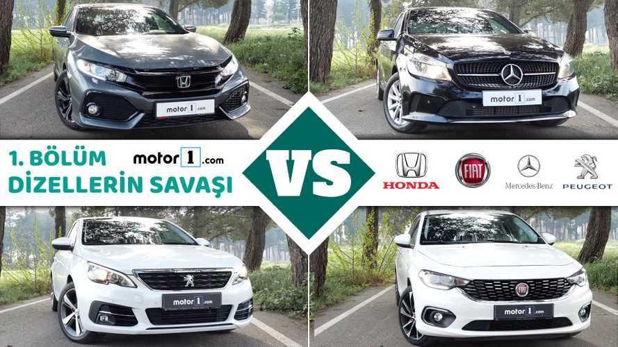 Honda Civic vs. Peugeot 308 vs. Mercedes A180d vs. FIAT Egea | Drag Yarışı