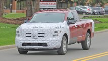 nissan titan facelift spied disguised