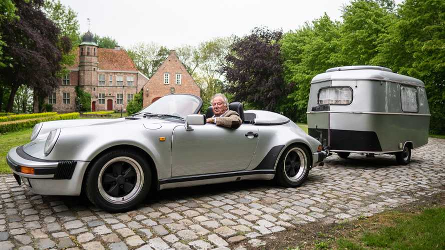 Classic Porsche 911 Speedster Owner Tows His Tiny Camper
