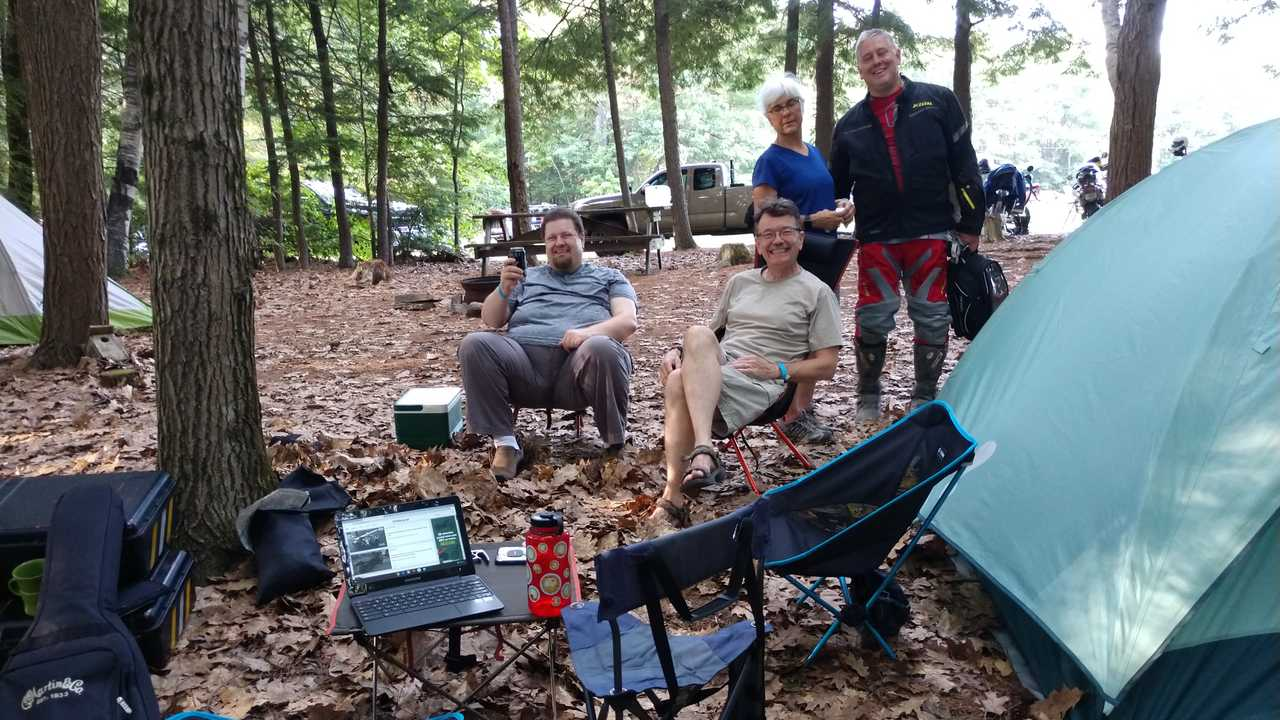 Friends In Camp Chairs
