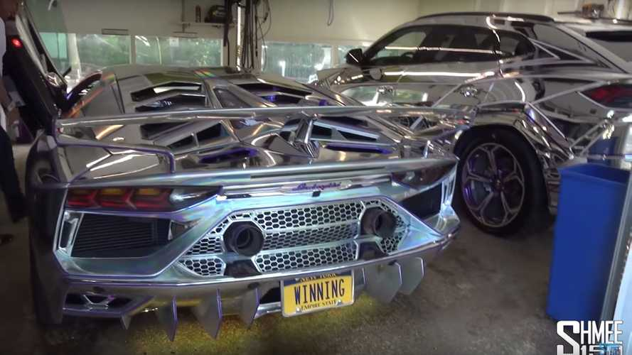 Chrome Lamborghini Urus, Aventador SVJ Make For A Flashy Duo