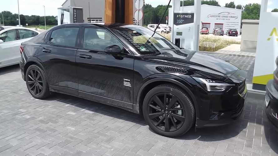 Rare Sight: Polestar 2 At Fastned Charging Station (Video)