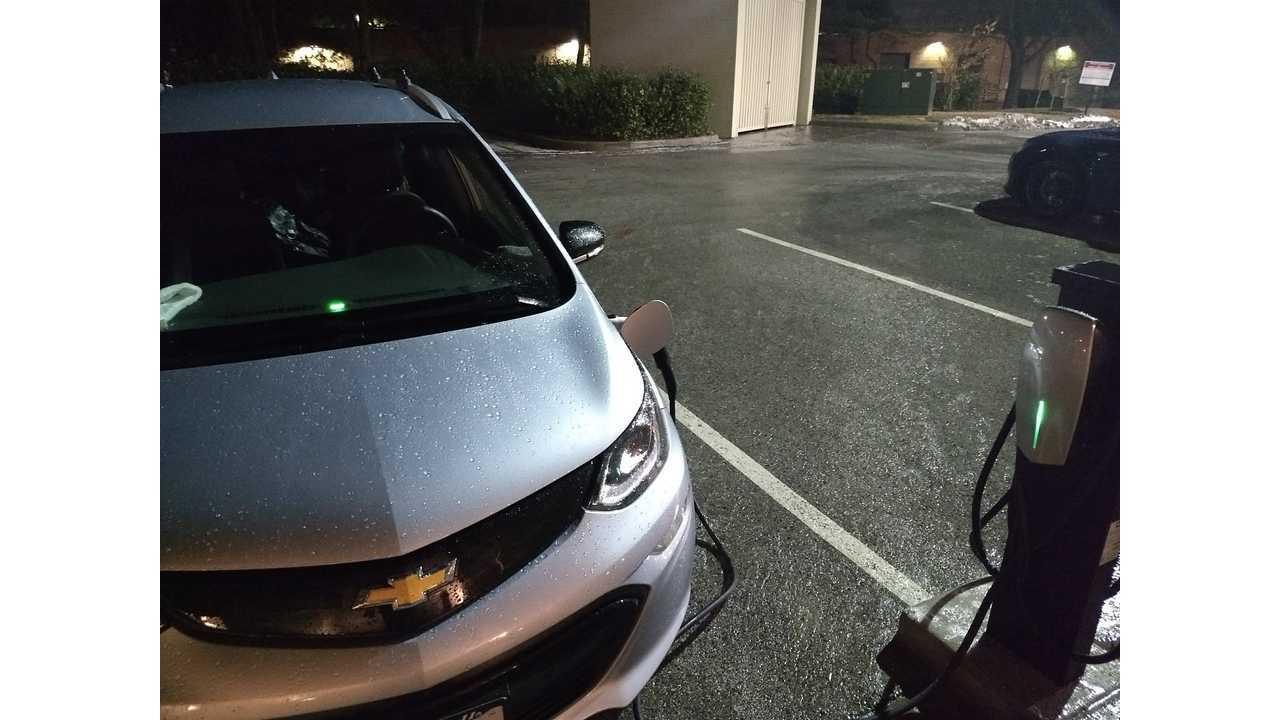 Charging My Chevrolet Bolt Ev At A Tesla Destination Charger Via Adapter