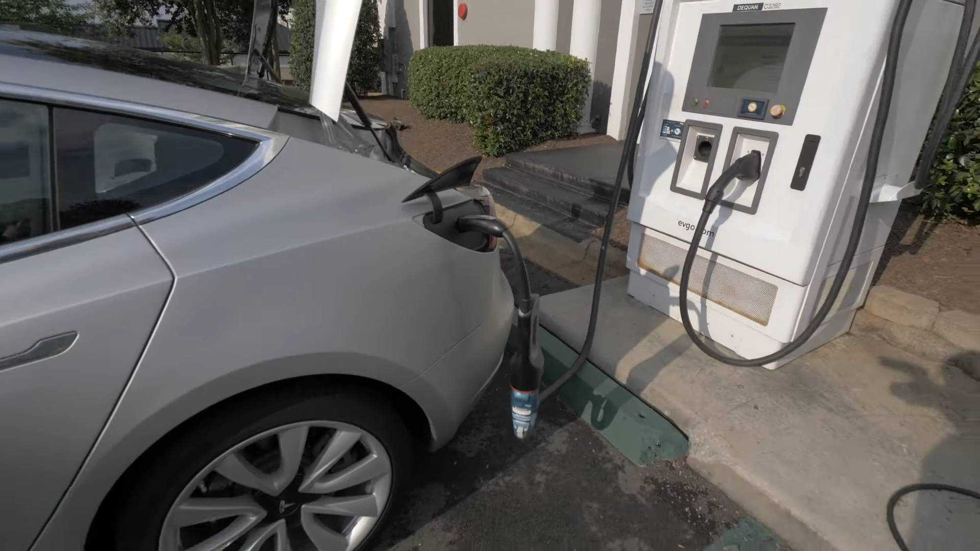 Is The Tesla Model 3 Already Able To Use A CHAdeMO Charger?
