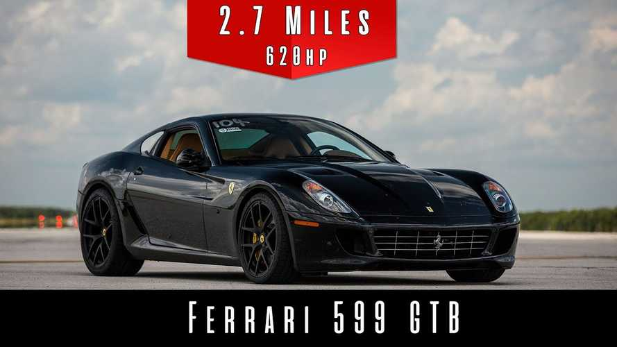 Watch This Ferrari 599 GTB Break The 200-MPH Barrier